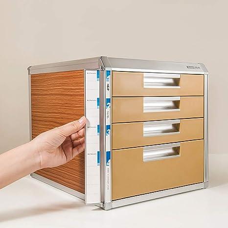 File cabinets Archivador, Tipo cajón de Cuatro Capas con Cerradura para Almacenamiento de Datos A4