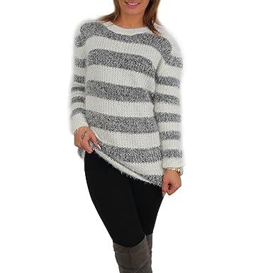 first rate a400b c39df Sexy Damen Kuschel Pullover Streifen Pulli kuschelig Sweater ...