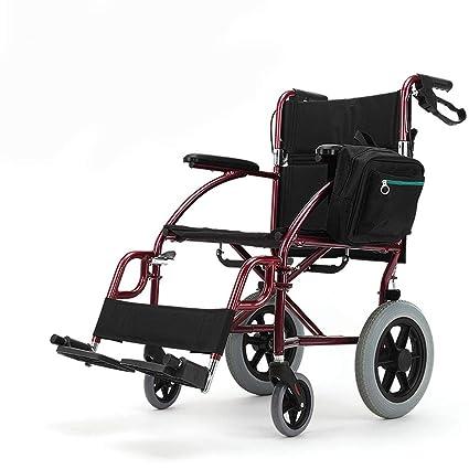 Silla de ruedas Walker plegable para personas mayores, con bolsa de almacenamiento, ultraligera y