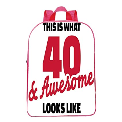 Self Defined Mini Red Bag40th Birthday DecorationsForty And Awesome Hilarious