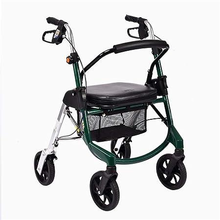 Andador ligero plegable de 4 ruedas con bolsa de transporte para ...