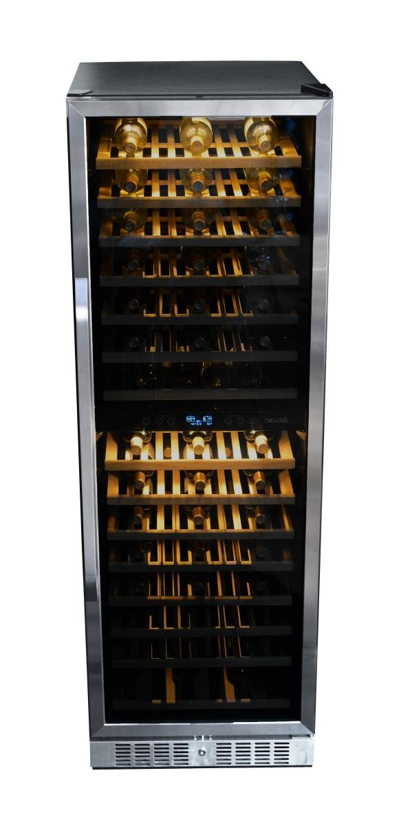 NewAir AWR-1600DB Premier Gold Series 160 Bottle Built-In WIne Cooler, StaInless Steel/Black