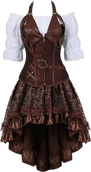 Steampunk Kleid  braun Fastnacht Halloween Fasching
