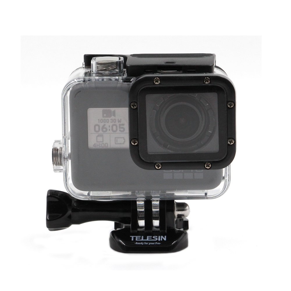 TELESIN Underwater 45M Waterproof Housing Case Shell Cover Mount for for GoPro Hero 5 Black, Go pro Accessories