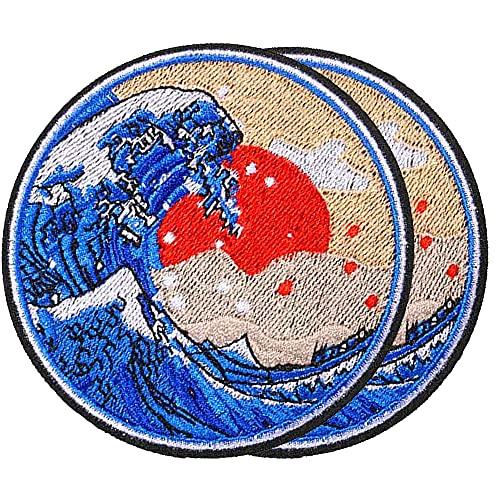 """Harsgs Aufnäher """"Große Welle vor Kanagawa"""