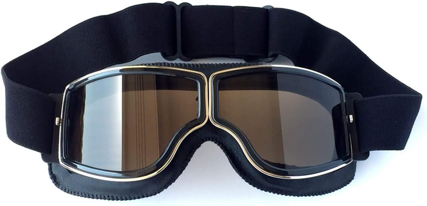 Daesar Brille Winddicht Unisex Motorradbrille Motocross Gelb Schutzbrille Antibeschlag