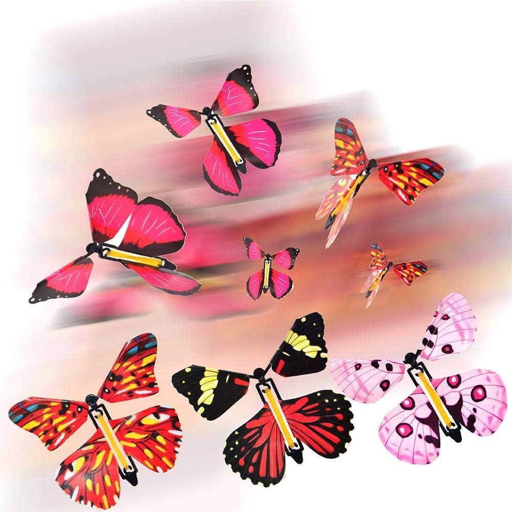 Random Color RunkeU 10 Pcs Flying Butterfly Butterfly Card Magic Butterfly Surprise Gift Card For Birthday Anniversary Wedding Card Gift Toys