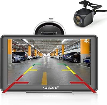 AWESAFE GPS para Coches con 7 Pulgadas Pantalla LCD con Bluetooth ...