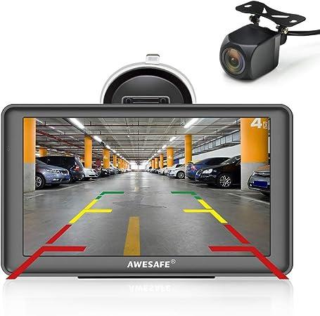 Oferta amazon: AWESAFE GPS para Coches con 7 Pulgadas Pantalla LCD con Bluetooth y Cámara Trasera, Navegador GPS para Camión con Actualizaciones de Mapas para Toda la Vida