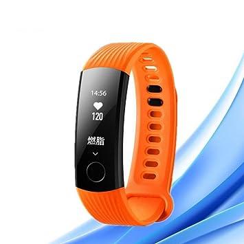 WANG Smart Sports Pulsera Sleep Steps Reloj De Ritmo Cardíaco Resistente Al Agua Reloj Inteligente,Orange: Amazon.es: Hogar