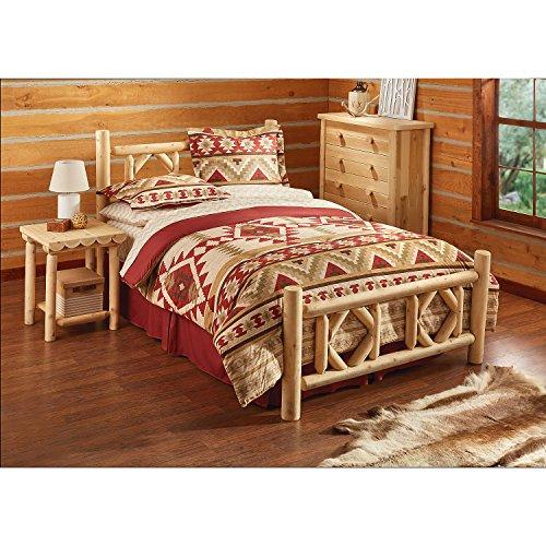 CASTLECREEK Diamond Cedar Log Bed, - Bedroom Furniture Log