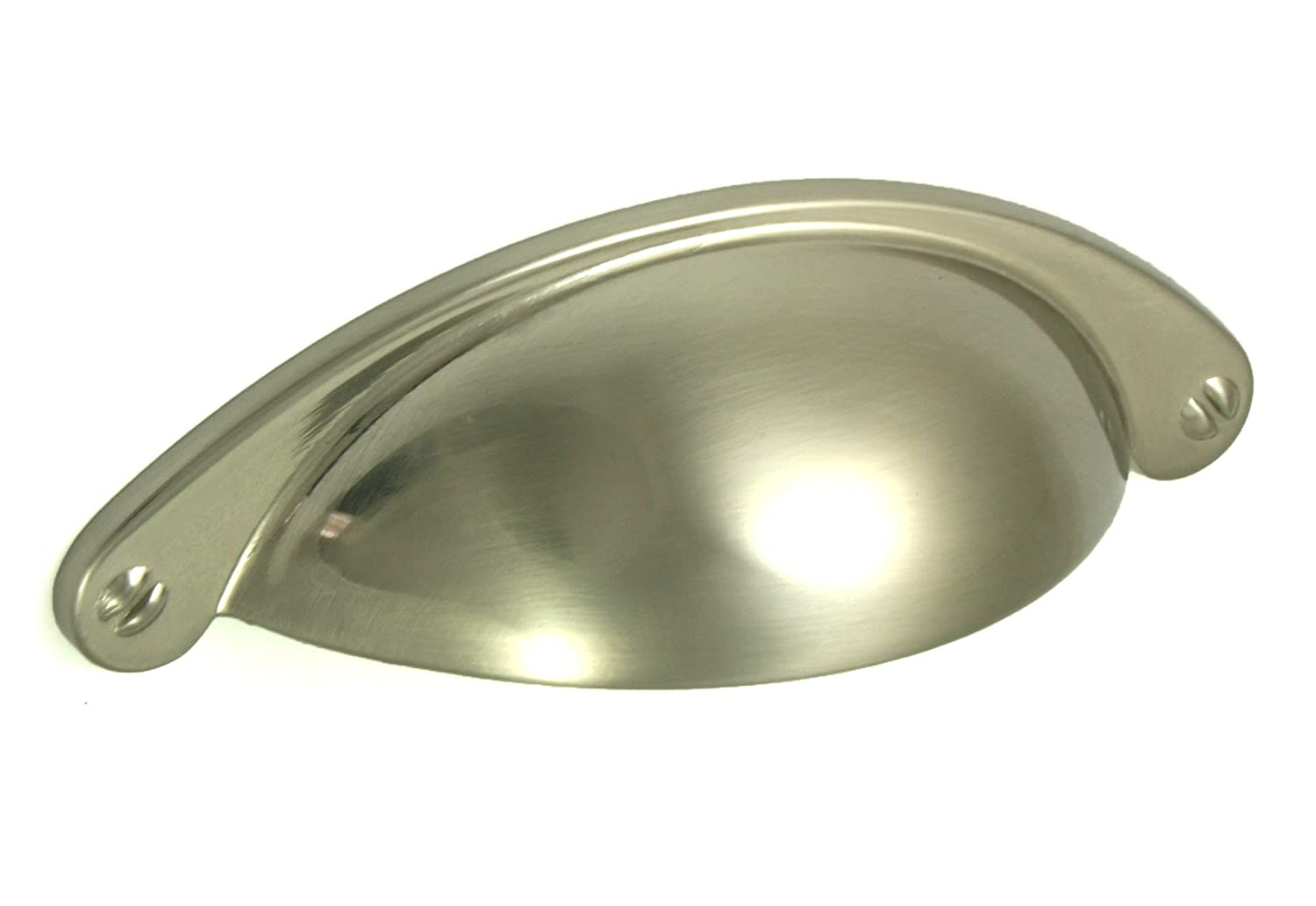 10 x Brushed Nickel Shaker Style Cup Handle. Kitchen or Cupboard ...
