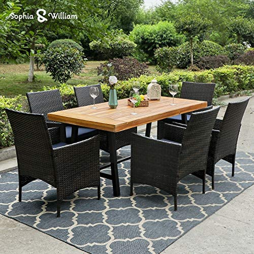 Sophia William Outdoor Patio 7 Pieces Dining Set