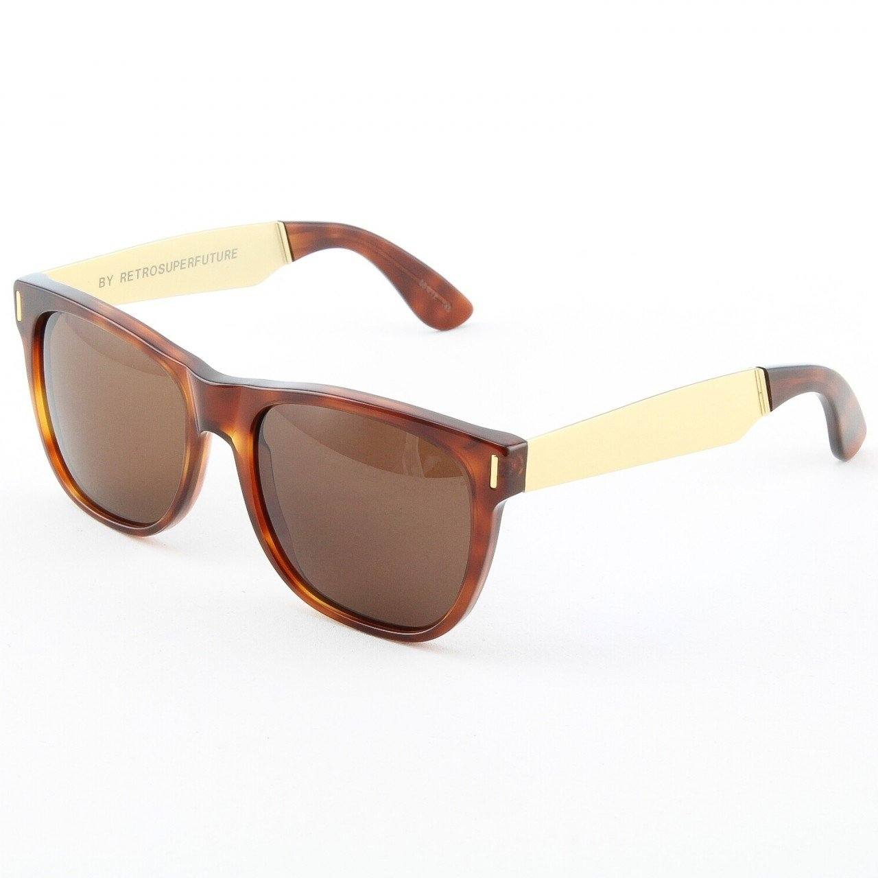 Retro Super Future 364 364 Classic Havana/Y Gold Basic Wayfarer Sunglasses