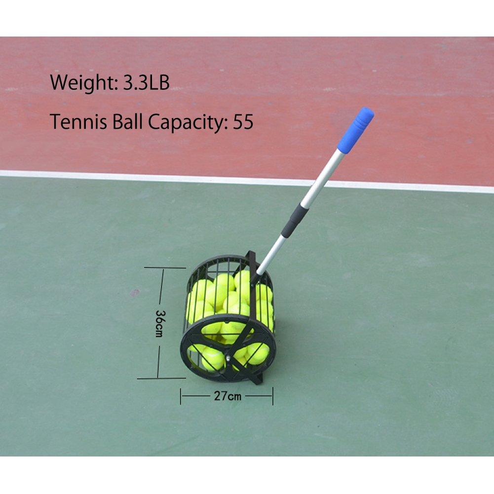 Amazon.com : HnjPama 2-in-1 Tennis Ball Baseball Collector Ball Hopper Can Hold 55 Tennis Balls : Sports & Outdoors