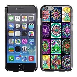 Fondos de pantalla de la India - Metal de aluminio y de plástico duro Caja del teléfono - Negro - Apple (4.7 inches!!!) iPhone 6 / 6S