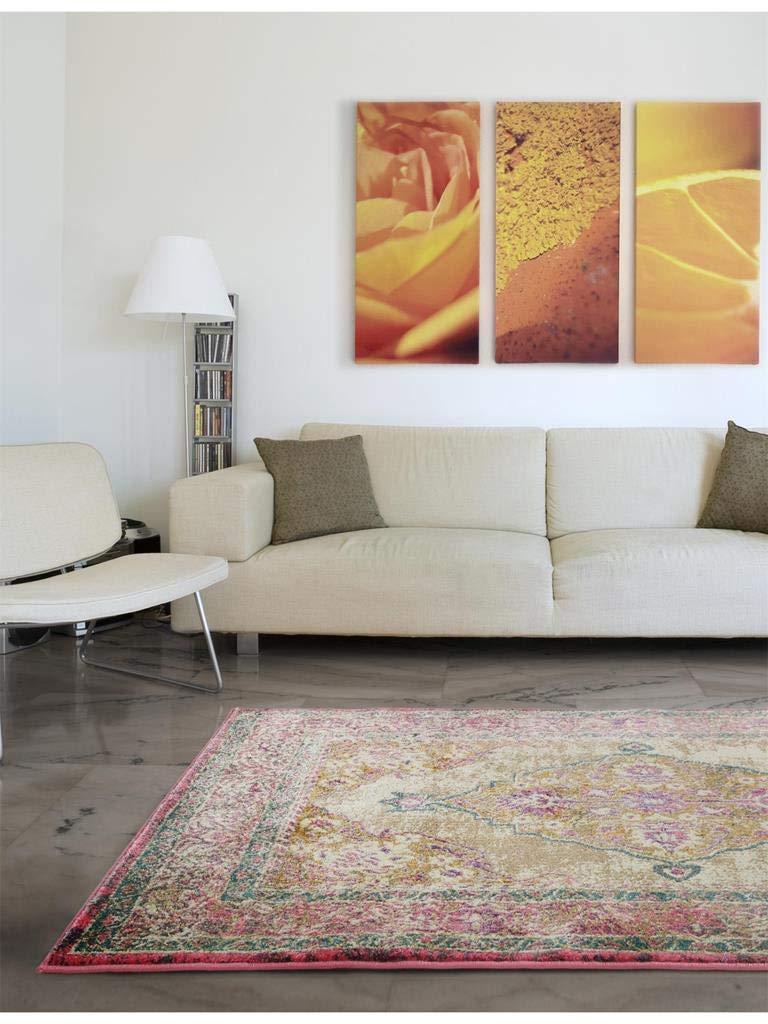 Benuta Teppich Vero Pink 80x150 cm   Moderner Teppich für Wohn- und Schlafzimmer
