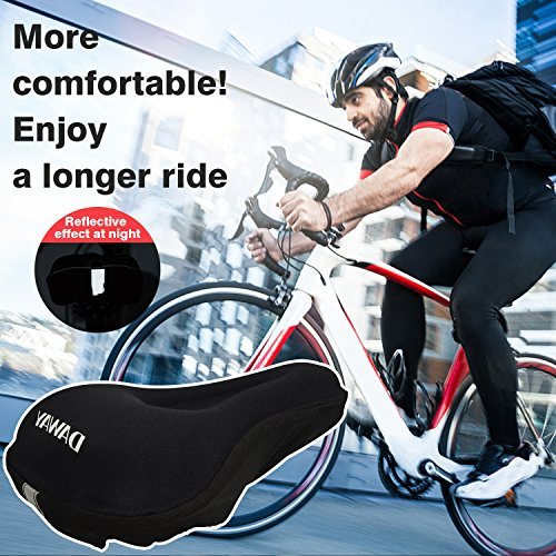 DAWAY Comfortable Bike Seat Cover - C7 Soft Gel & Foam Padded Exercise Bicycle Saddle Cushion Men Women Kids, Fit Spin Class, Stationary Bike, Mountain Road Bikes, Outdoor Cycling, 1 Year Warranty by DAWAY (Image #6)