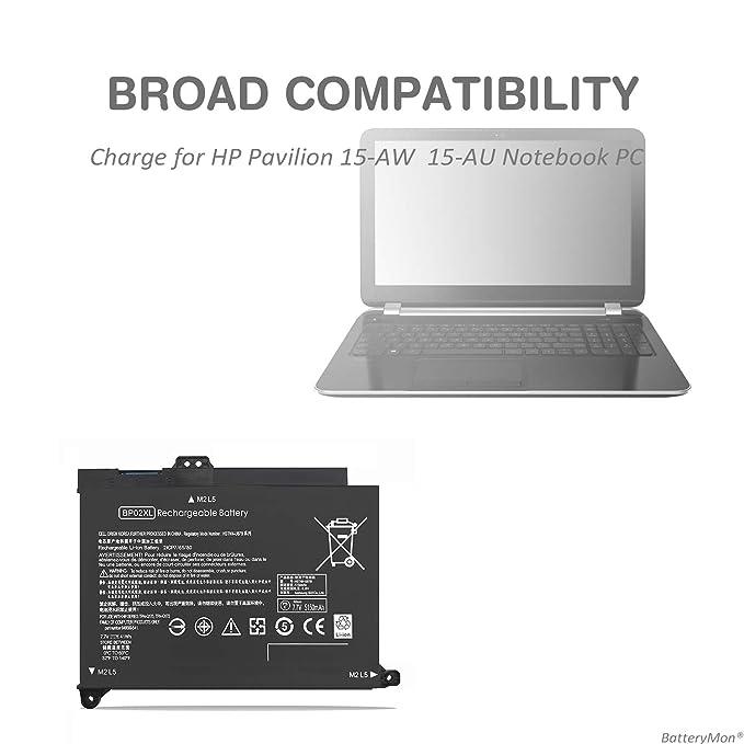 Amazon.com: BatteryMon BP02XL Battery for HP Pavilion 15-AU000 15-au010wm 15-au018wm 15-au020wm 15-au030wm, Pavilion 15-AW000 15-aw100 15-aw002nv 15-aw007cy ...