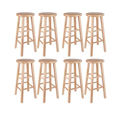 Tremendous Amazon Com Winsome 29 Inch Square Leg Bar Stool 29 Ibusinesslaw Wood Chair Design Ideas Ibusinesslaworg