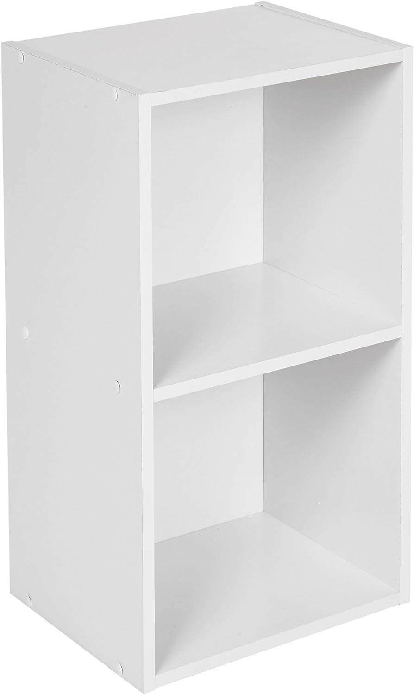 URBN LIVING  /® 1 Bianco in Legno con Contenitore scaffale Libreria 3 Cube Scaffale in Legno 2 4 Ripiani