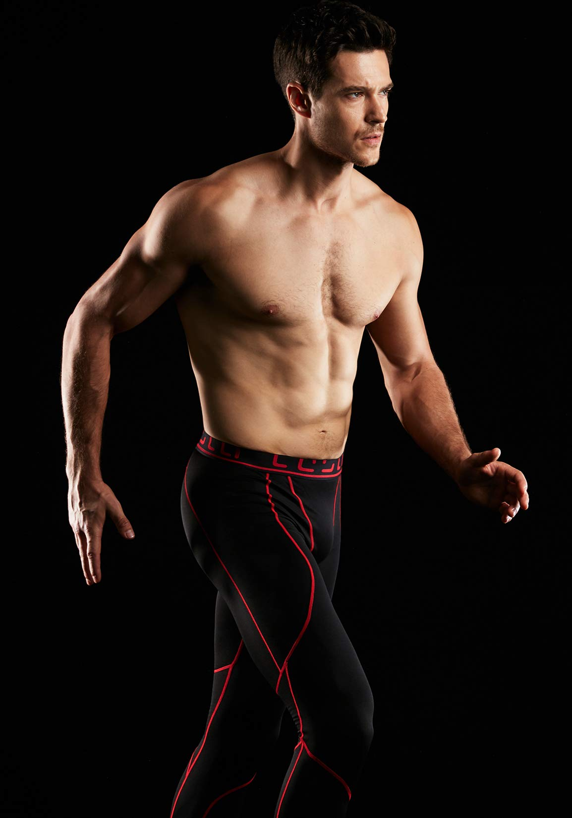 TSLA TM-YUP43-KKR_3X-Large Men's Emboss Pants Thermal Wintergear Compression Baselayer Sports Leggings YUP43 by TSLA (Image #4)