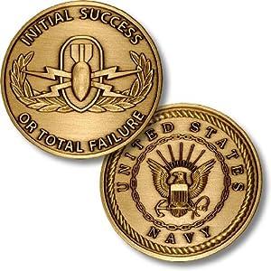 EOD School US Navy Challenge Coin