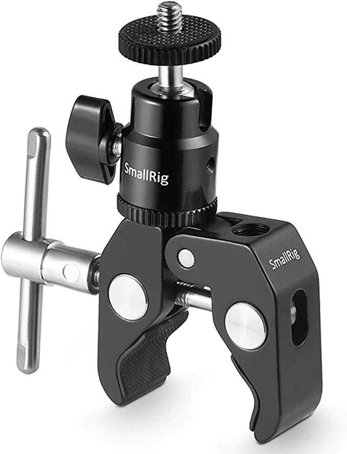 SMALLRIG Super Clamp Mount with Ball Head Mount Hot Shoe Adapter and Cool Clamp - 1124: Amazon.com.au: Electronics