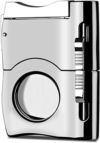 Camlinbo Cigar Cutter with 2 Cigar Punches, Premium Stainless Steel Blades Guillotine Cigar Accessories