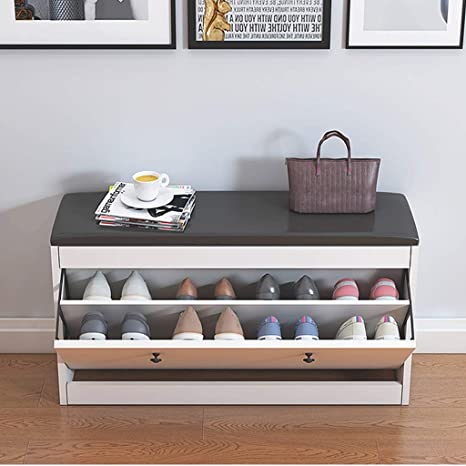 Fabulous Slow Time Shop Us Shoe Storage Bench With Flip Drawer Shoe Storage Cabinet Ottoman Shoe Rack Wooden Shoe Cabinet With Seat Cushion For Hallway Bralicious Painted Fabric Chair Ideas Braliciousco