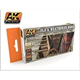 Old & Weathered Wood (Vol.1) Acrylic Paint Set by AK Interactive
