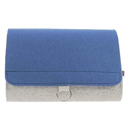 ebos bolso cambiador | Bolsa para pañales rollo de fieltro, espacio para pañales, toallitas