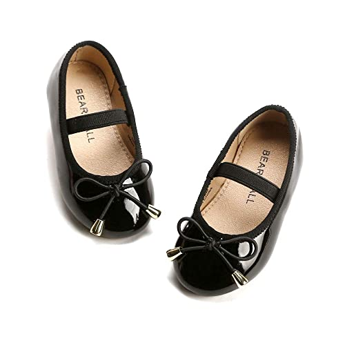Amazon Bear Mall Little Girl Flats Slip On Ballet Flats Black