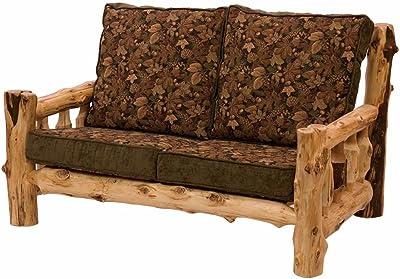 Cedar Log Frame Loveseat Real Wood Western Lodge Rustic Cabin
