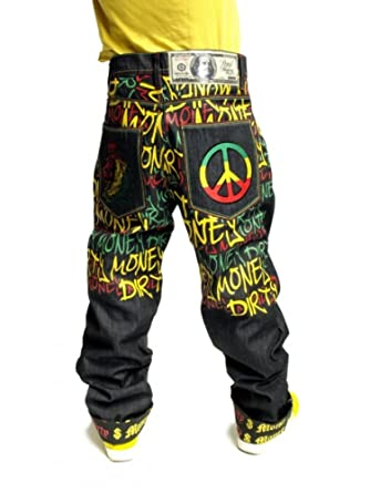 Dirty Money Rasta Lion Pace Jeans  Amazon.it  Abbigliamento 344009685eaa