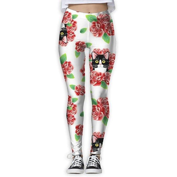 Amazon.com: Tuxedo - Pantalones de yoga para mujer con ...