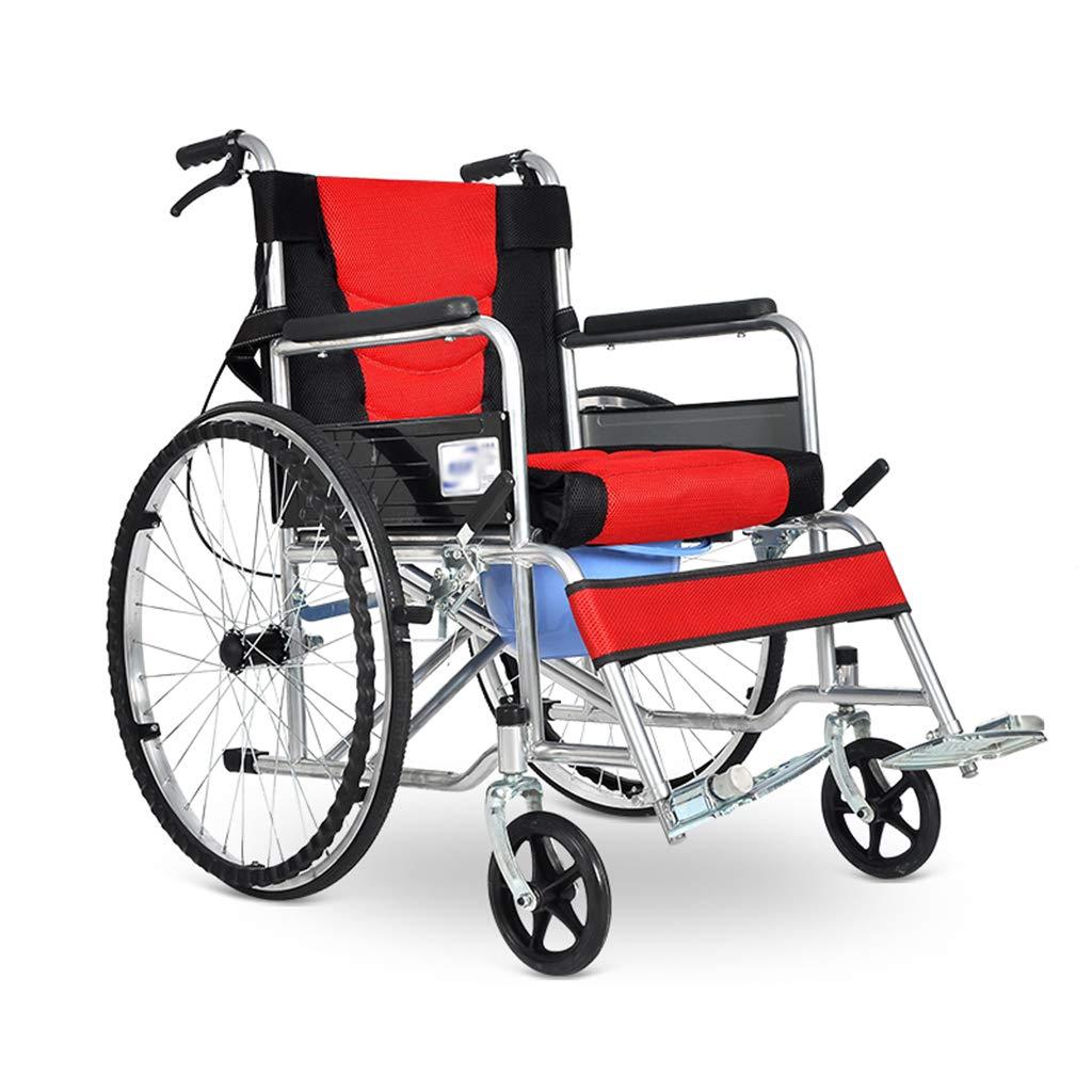 ウォーキング車椅子、お年寄り車椅子折りたたみ式便器車椅子バリアフリーキャリー車椅子ステンレススチール手押し車,A  A B07QQJV52C