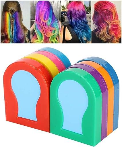 8 colores de tinte para el cabello en polvo tizas para el ...