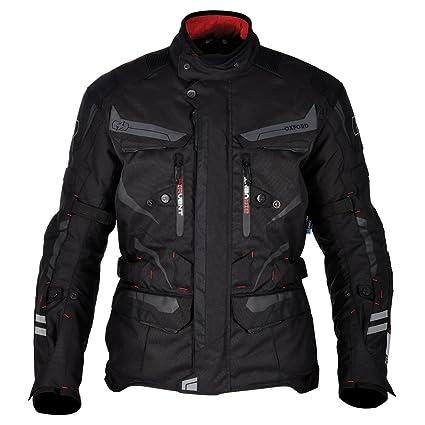 Oxford Torino Mens Waterproof Touring Textile Motorcycle Jacket Tech BlackS38