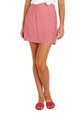 Amazon com: For Love & Lemons Rosie Dot Mini Skirt Rose Dot: Clothing