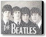 beatles art framed - The Beatles Album Names Mosaic Incredible Framed 9x11 Limited Edition Art W/coa