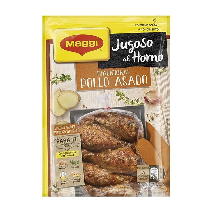 Maggi Jugoso al Horno Tradicional Pollo Asado - 1 Bolsa para Horno con Condimentos - 31g