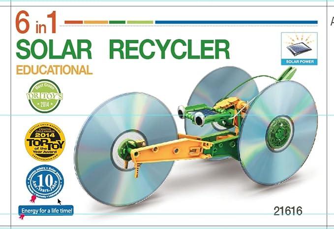 Robot solar, 6 modelos en 1, para montarlo tú mismo: Amazon.es: Juguetes y juegos