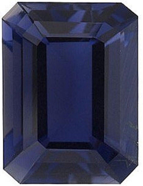Natural 1.12 Carats 8X6 MM AAA Iolite Emerald-Cut (1 PC) Loose Gemstone