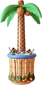 NET TOYS Palmera Inflable para Fiestas Isla Palmas Divertido Aloha Fiesta de Verano Hawaiana
