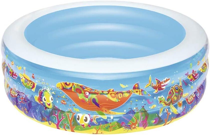 NBgy Piscina Inflable Familiar, Almacenamiento Plegable Fácil, Piscina Engrosada para Bebés, Piscina Oceánica, Piscina para Niños Al Aire Libre, Gris, 152 * 51 Cm