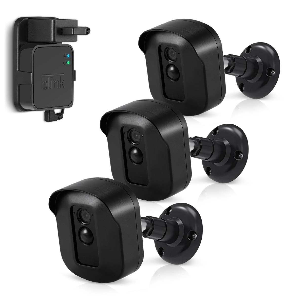 Blink XT2 Camera Wall Mount Bracket, Caremoo 3 Pack Weatherproof Protective Housing/Mount and Blink Sync Module Outlet Mount for Blink XT2/ Blink XT Outdoor/Indoor Smart Security Camera (Black) by Caremoo