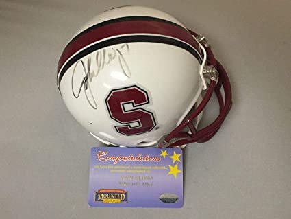 af29f1a7e Image Unavailable. Image not available for. Color  Autographed Signed JOHN  ELWAY Stanford Cardinal Mini Helmet Memories COA ...