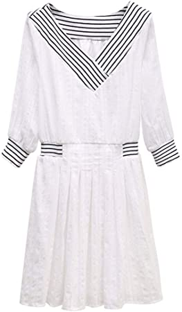 Lpp Robe Petite Robe Blanche Fraiche A Col En V A Manches Courtes Peut Etre Donnee Comme Cadeau Aux Amies Xl Amazon Fr Cuisine Maison
