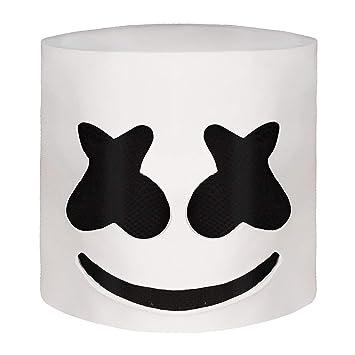 Marshmallow DJ máscara Casco del Festival música Máscara la Mascarada del Novedad Látex de Goma máscara la Cabeza Completa.: Amazon.es: Juguetes y juegos